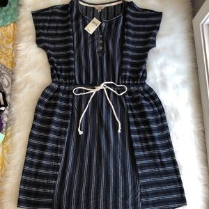 Lucky Brand Dresses - Lucky Brand • NWT Navy Striped Dress